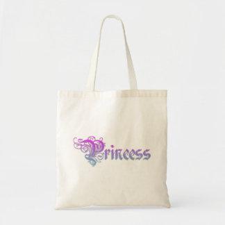 Tote Bag Princesse Text Written dans le gradient pourpre de