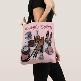 Tote Bag Produits de maquillage de salon de beauté de rose