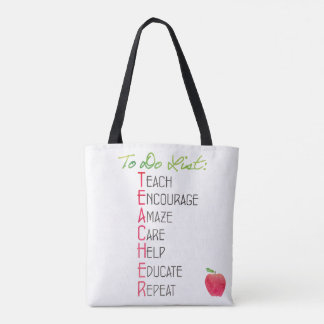 Tote Bag Professeur pour faire la typographie d'aquarelle