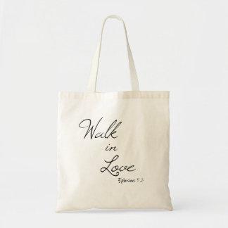 Tote Bag Promenade de vers de bible dans l'amour