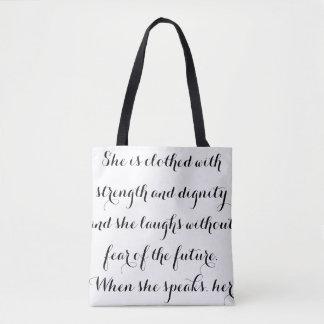 Tote Bag Proverbes élégants 31 Fourre-tout