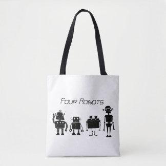 Tote Bag Quatre robots