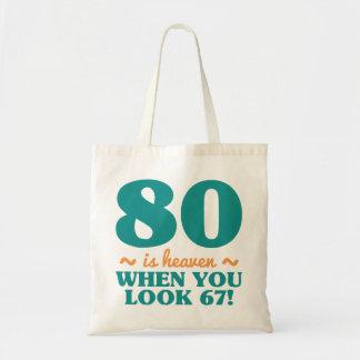 Tote Bag Quatre-vingtième anniversaire impertinent