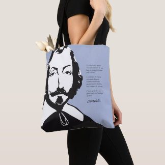 Tote Bag Québec Hipster Samuel Champlain 1608 CHOIX COULEUR