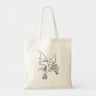 Tote Bag Raptor à ailes/tribal