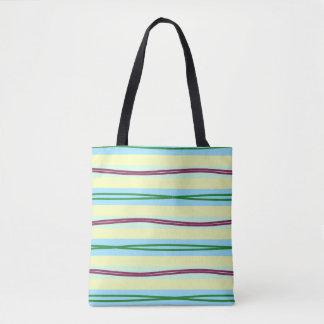 Tote Bag Rayures en pastel élégantes avec des points