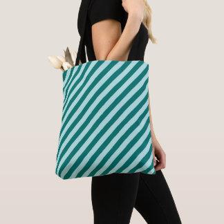 Tote Bag Rayures turquoises