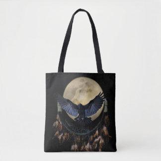 Tote Bag Receveur de rêve de Natif américain, Raven et loup