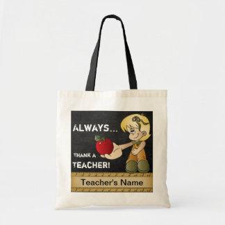 Tote Bag Remerciez toujours un texte du professeur |