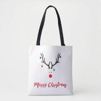 Tote Bag Renne minimaliste mignon drôle de Noël sur le