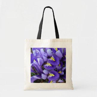Tote Bag Ressort bleu miniature d'iris floral