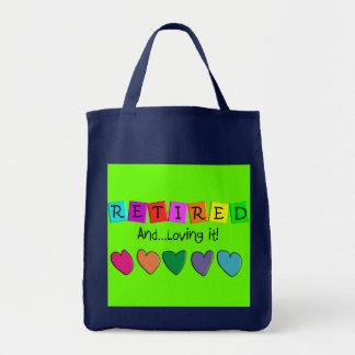 """Tote Bag """"Retiré et l'aimant"""" T-shirts et cadeaux"""