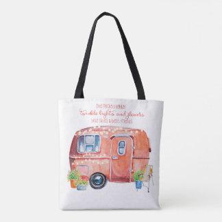 Tote Bag Rétro caravane Fourre-tout de campeur