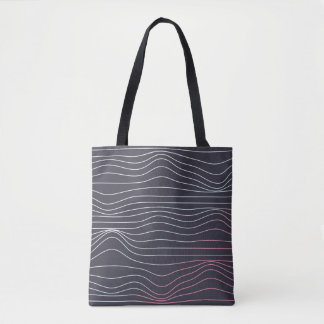 Tote Bag Rétro conception, vague fourre-tout