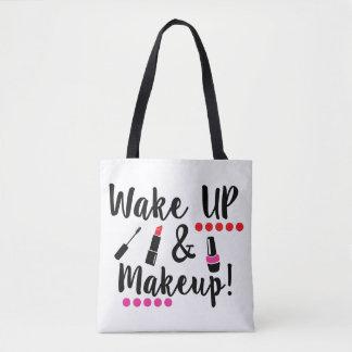 Tote Bag Réveillez-vous et maquillage Fourre-tout