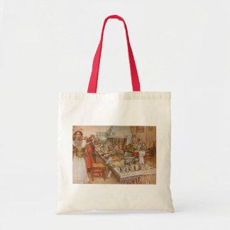 Tote Bag Réveillon de Noël par Carl Larsson, vacances