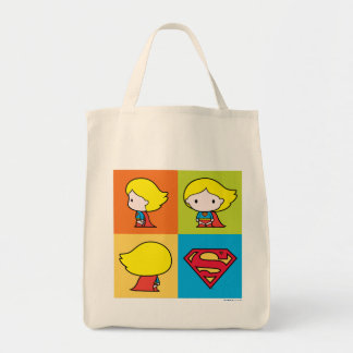 Tote Bag Revirement de caractère de Chibi Supergirl
