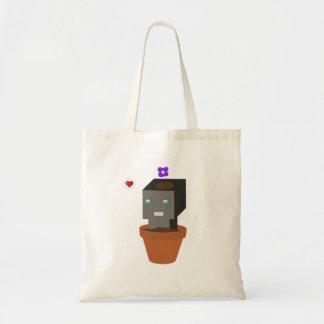 Tote Bag Robot Fourre-tout de pot de fleur