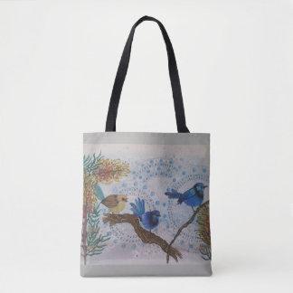 Tote Bag roitelet de 2018 bleus