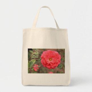 Tote Bag Rose couleur pêche de rose de 91:14 de psaume