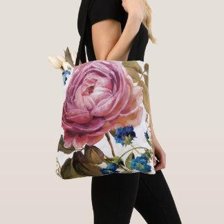 Tote Bag Rose de rose en pleine floraison