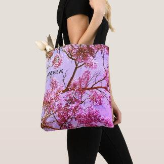 Tote Bag Rose en pastel et lavande floraux