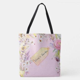 Tote Bag Rose floral de pantoufle de ballet avec