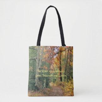 Tote Bag Route au bonheur Fourre-tout