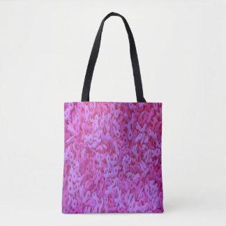 Tote Bag Ruban fourre-tout de rose de conscience de cancer