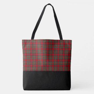 Tote Bag Sac-LRG rouge et vert de Fourre-tout de plaid