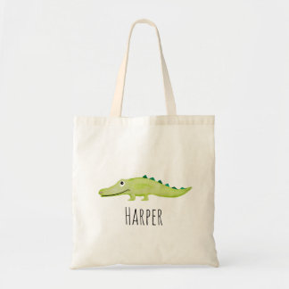 Tote Bag Safari unisexe et nom de crocodile de bébé