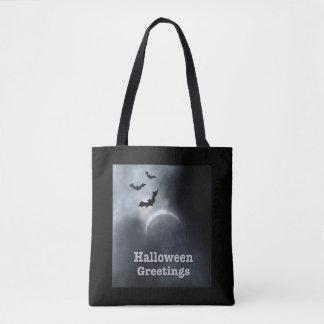 Tote Bag Salutations éffrayantes d'éclipse de Halloween