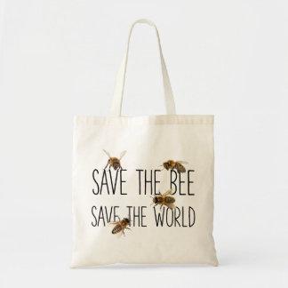 Tote Bag Sauvez l'abeille ! Sauvez le monde ! Vivent la