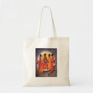 Tote Bag Scène africaine de nativité de Noël