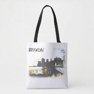 Tote Bag Scène de Brooklyn le fleuve Hudson