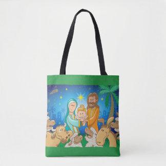 Tote Bag Scène douce de la nativité du bébé Jésus