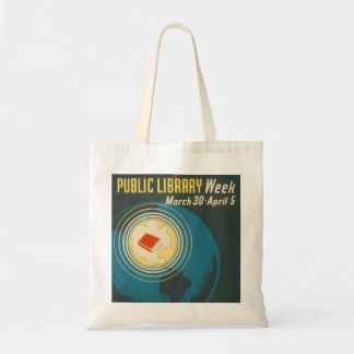 """Tote Bag Semaine"""" vintage Fourre-tout """"de bibliothèque"""