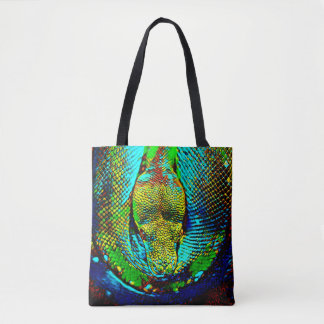 Tote Bag Serpent d'arc-en-ciel