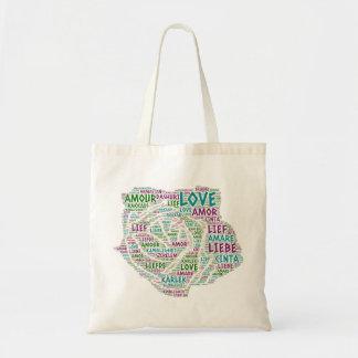 Tote Bag S'est levé illustré avec le mot d'amour