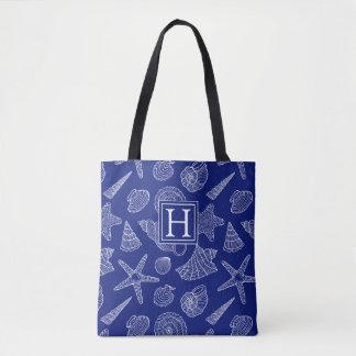 Tote Bag Shell bleu lumineux modèlent | ajoutent votre