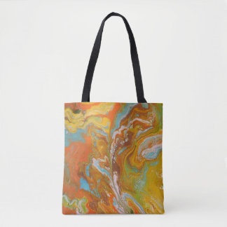 Tote Bag Sifflement orange Fourre-tout
