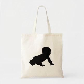 Tote Bag Silhouette de bébé
