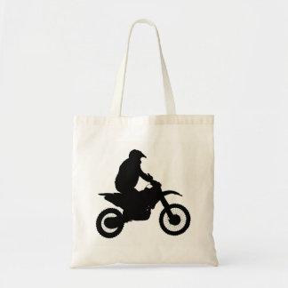 Tote Bag Silhouette de motocross