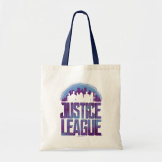 Tote Bag Silhouette de ville de ligue de justice de la