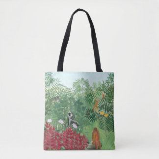 Tote Bag Singes tropicaux reconstitués de la jungle W de