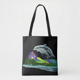 Tote Bag Sirène avec des dauphins