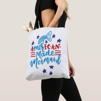 Tote Bag Sirène faite américaine. Énonciations mignonnes