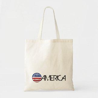 Tote Bag Sourire autour du drapeau américain