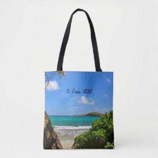Tote Bag St Croix, scène de plage d'île de Vierge des USA