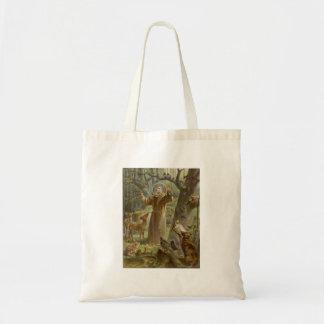 Tote Bag St Francis d'Assisi a entouré par des animaux